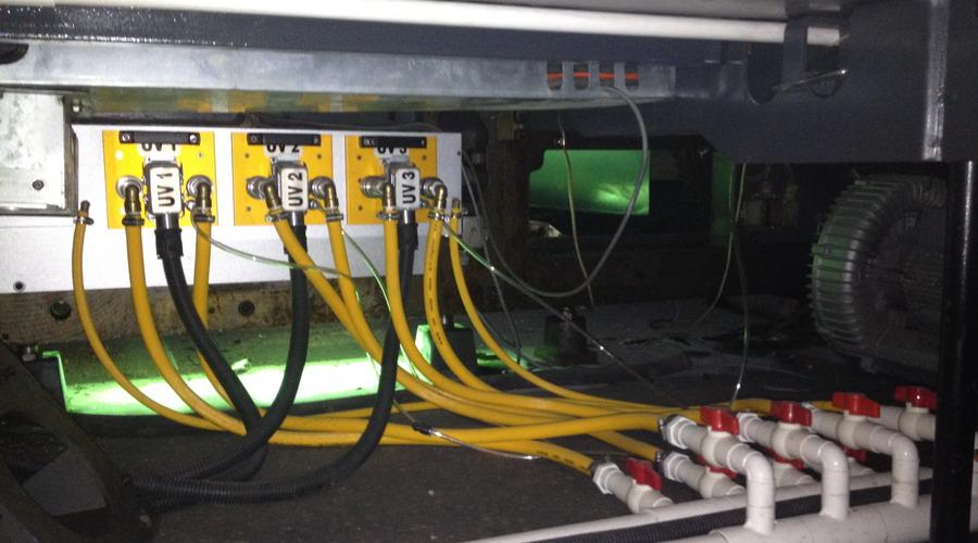 罗兰700胶印机水冷UV系统-收纸
