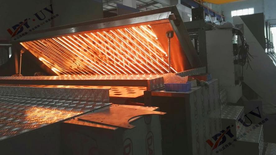 广东台一纸箱水印机配套IR红外干燥设备