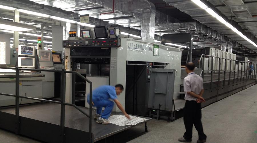 小森印刷机加装水冷UV设备