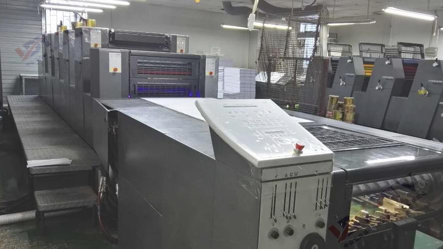 海德堡SM52胶印机加装UV LED设备